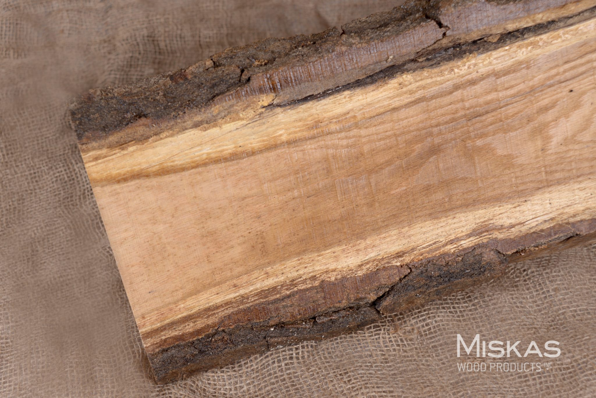 Red oak live edge slabs miskas wood products inc for How to finish a wood slab